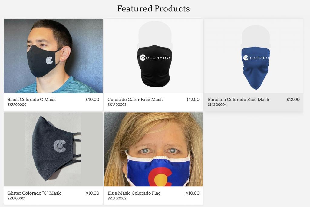 MaskUpColorado.com Colorado Face Masks by FRP Apparel in Erie, Colorado